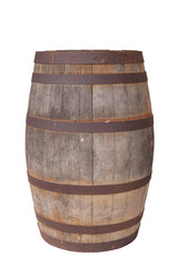 Old Wooden Wine Barrel