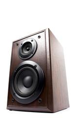 sound speaker on white background.