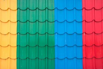 colorful metal sheet roof