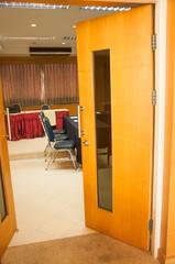 door into conference room