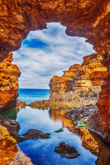 Foto op Canvas Australië seascape,landscape and skyline ofthe great ocean road,australia