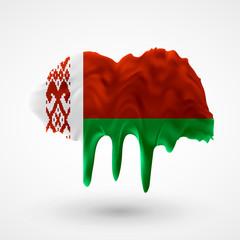 Flag of Belarus painted colors