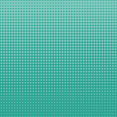 Halftone on top of turquoise dots on turquoise background