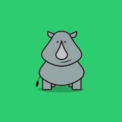 Cute rhino cartoon.