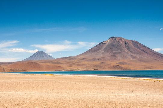 Miscanti lagoon in San Pedro de Atacama, Chile