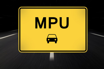 mpu auf straßenschild geschrieben
