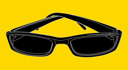 Sunglasses Shape Vector