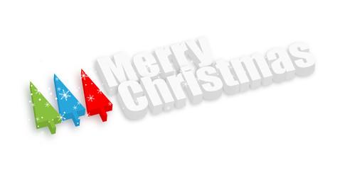 Merry Christmas Trees Banner