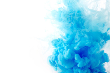 Wall Murals Smoke Cloud of ink in water isolated on white