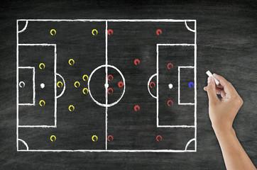 hand writing football tactic
