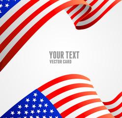 American flag border vector illustration