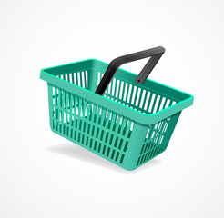 Vector shopping basket green