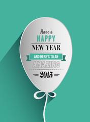 Happy new year design in balloon