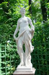 Fototapeta Sculpture of Talia, Summer Garden, Saint Petersburg obraz