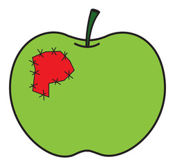 Green Patch Apple