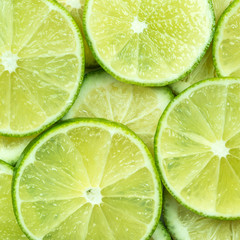 background of lime slices