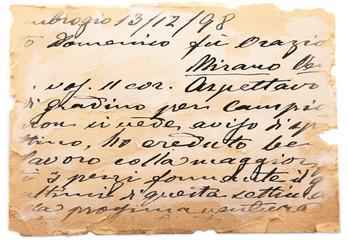 vecchia lettera vintage