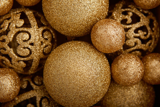 Background of decorative christmas balls
