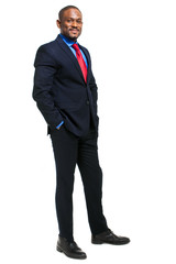 African businessman full length