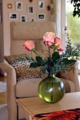 Dekoration, Einrichtung, Rose, Vase, Sessel