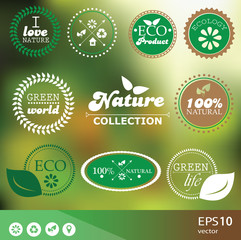 Set of vintage style elements for icons, labels and badges
