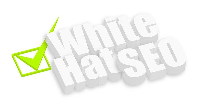White Hat SEO 3d Text