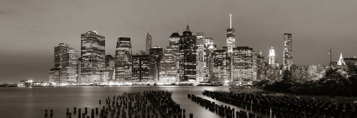 Wall Mural - Manhattan at night