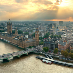 Wall Mural - Westminster rooftop view