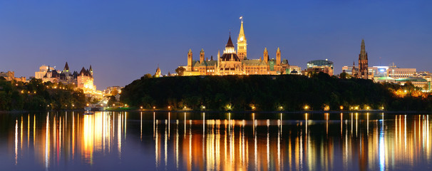 Fototapete - Ottawa at night