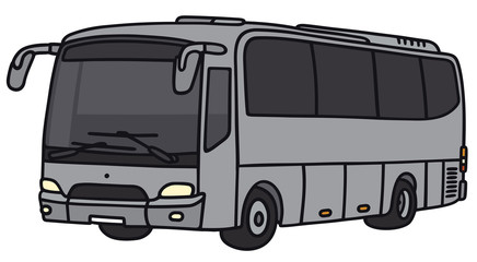 Hand drawing of a bus - not a real model