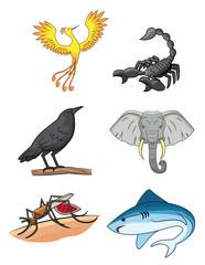 six animal group