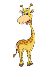 Giraffe Cartoon Illustration