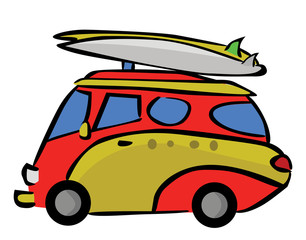 Tour Trip Car Cartoon