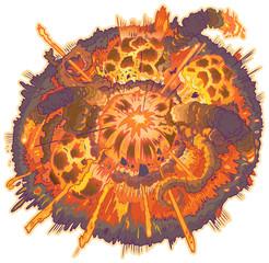 Vector Cartoon Clip Art Explosion Illustration