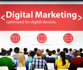 Digital Marketing Web Page Seminar Presentation Concept