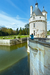 Castle Chenonceau: The Marques Tower (France).