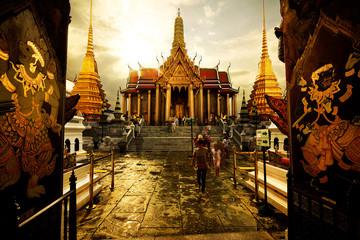 Poster Bangkok Preah pantheon Wat Phra Kaew in Bangkok