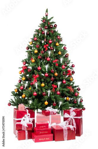 traditionell geschm ckter weihnachtsbaum fotos de archivo e im genes libres de derechos en. Black Bedroom Furniture Sets. Home Design Ideas