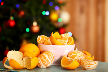 Sweet tangerines and oranges