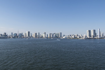 東京湾の風景 港区〜晴海