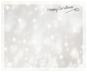 Beautiful silver Christmas card