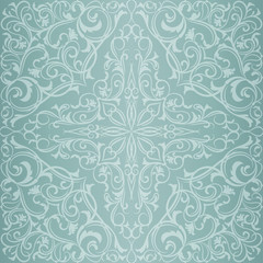 Blue orient pattern