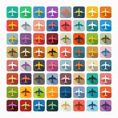 Flat design: plane