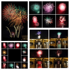 Fireworks collage, Images from Florence