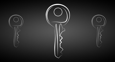 key icon illustration