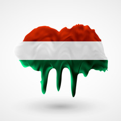 Flag of Hungary painted colors