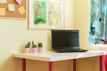 Laptop in child's room