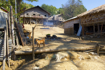 Murong hill tribe village near Bandarban, Bangladesh