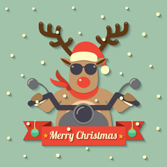 Christmas reindeer background