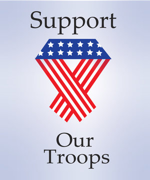 Support Our Troops With an American Ribbon